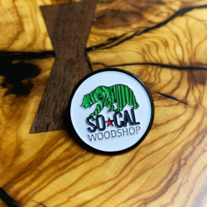 socal woodshop enamel pin